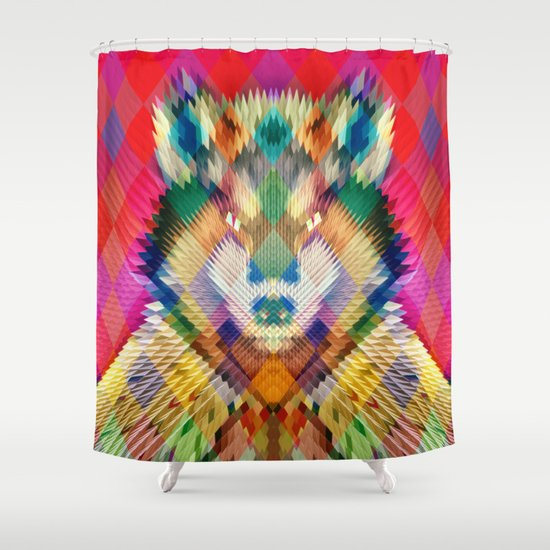 Corporate Wolf Shower Curtain