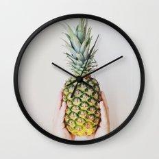 Minimal Pineapple Wall Clock