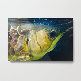 gold-plated Metal Print