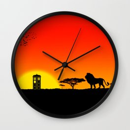 Tardis Sunset Wall Clock