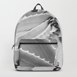Agave Leaves | Black and White Backpack