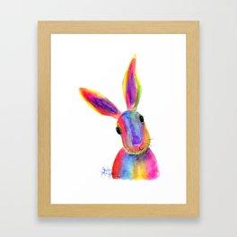 Happy Hare ' ZIGGY ' by Shirley MacArthur Framed Art Print