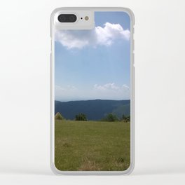 Meadow and mountains Clear iPhone Case