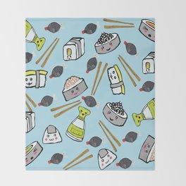 Sushi Time for Shishi Throw Blanket