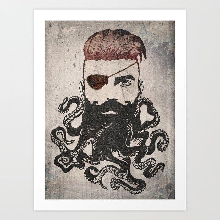 Black Beard Art Print