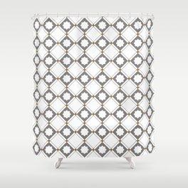 Geometric Pattern - Oriental Star Design 4 Shower Curtain