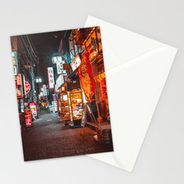 Warmth of Neon Tokyo Signs Stationery Cards