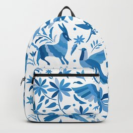 Mexican Otomí Design in Light Blue Backpack