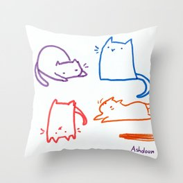 Cats cats cats cats Throw Pillow