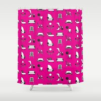 memphis Shower Curtains featuring Memphis by Yuki Chen