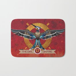 Mockingjay The girl on fire - district 12 - Hunger - bookish print - book quote - reading Bath Mat