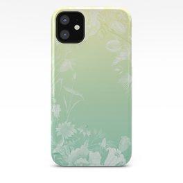 Stardust Lemon Mint Floral Motif iPhone Case