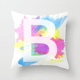 Lettering B - Typography Throw Pillow