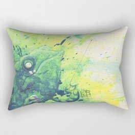 anti agression therapy for chameleons Rectangular Pillow