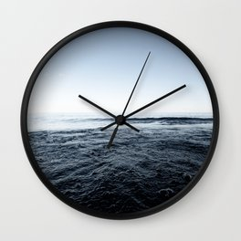 Beautiful Sunset and Bubbly Water Classic Blue Pantone Colour of the Year Wall Clock