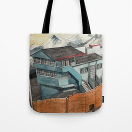 View from the Chapel of Man, Ecuador Tote Bag