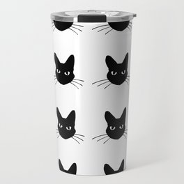 Black and white cute cats pattern Travel Mug