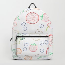 Colourful food Backpack