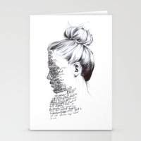 the national Stationery Cards featuring THE NATIONAL by Alice Green