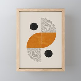 Abstract Geometric Shapes Framed Mini Art Print