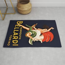 Vintage Bellardi Vermouth Advertising Poster Rug