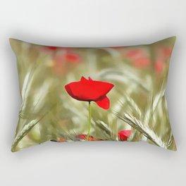 Hot Poppy Rectangular Pillow