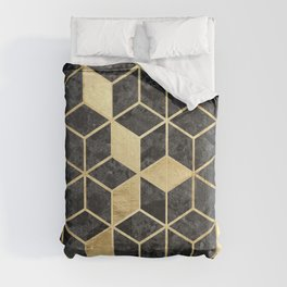 Golden and natural pattern II Comforters