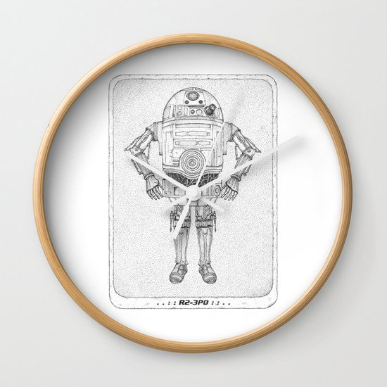 R2 3PO Wall Clock