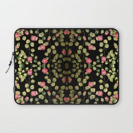 """Spring pink flowers and leaves - Black"" Laptop Sleeve"