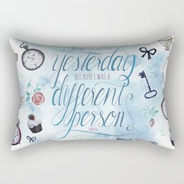 I CAN'T GO BACK TO YESTERDAY Rectangular Pillow