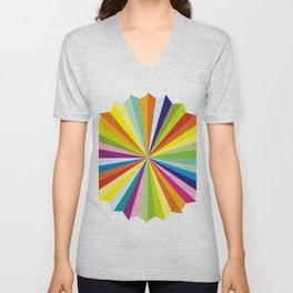 Rainbow colorful triangles Unisex V-Neck