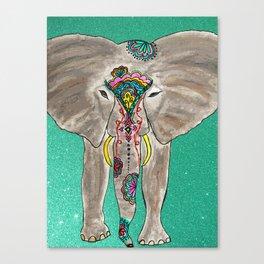 Elephant Trunk Art  Canvas Print