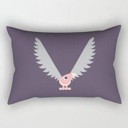 Letter V // Animal Alphabet // Vulture Monogram Rectangular Pillow