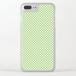 Jasmine Green Polka Dots Clear iPhone Case