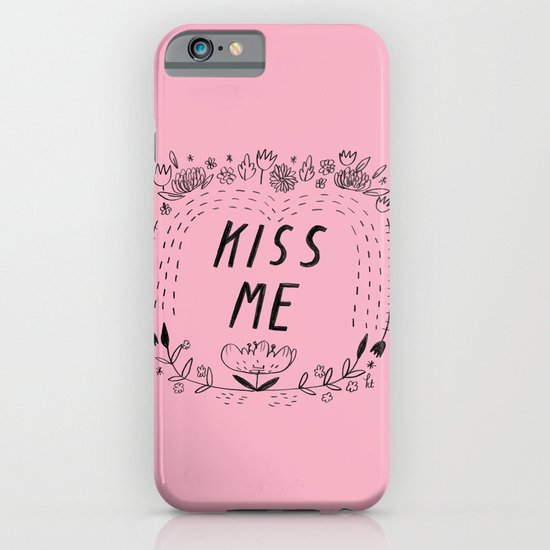 Kiss Me - Pink iPhone & iPod Case