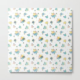 Cute flowers everywhere Metal Print