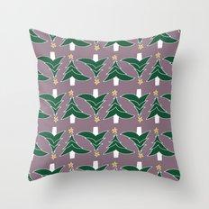 CHRISTMAS TREE PURPLE Throw Pillow