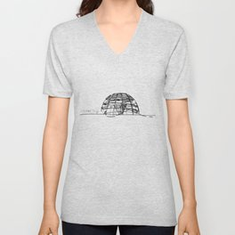 Reichstag Dome, Foster + Partners Unisex V-Neck