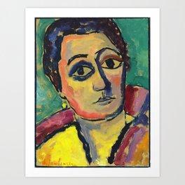 "Alexej von Jawlensky ""Helene with Open Eyes"" 1912 Art Print"