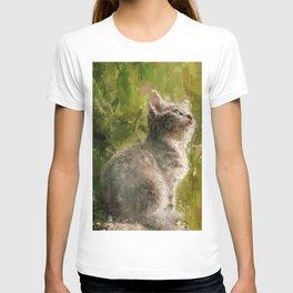 Cute abstract kitten T-shirt