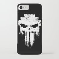 punisher iPhone & iPod Cases featuring Space Punisher by RicoMambo