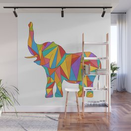 Big, bright, and colorful elephant - polychromatic animal Wall Mural