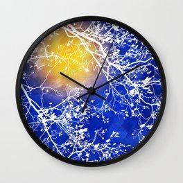 Blue Tree Abstract Wall Clock