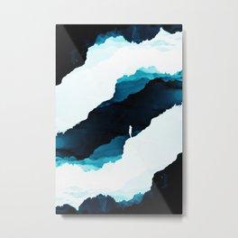 Teal Isolation Metal Print