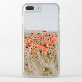 flower field Clear iPhone Case