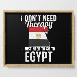 Egypt flag I Egyptian Souvenirs Serving Tray