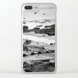 Omaha Beach Resupply - Normandy Invasion - 1944 Clear iPhone Case