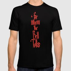 For Whom The Bell Tolls Mens Fitted Tee MEDIUM Black