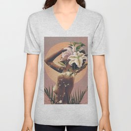 Floral beauty 3 Unisex V-Neck