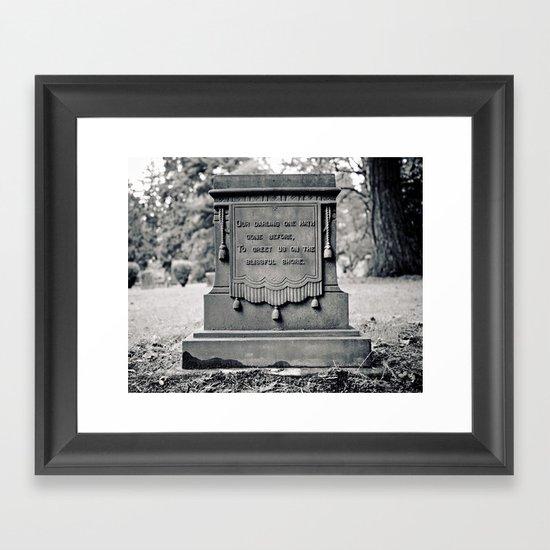 Graveyard inscription Framed Art Print